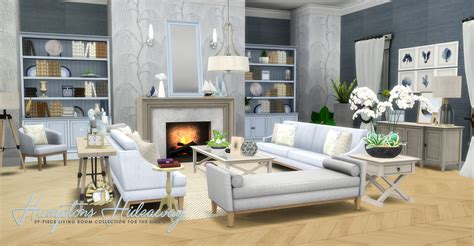 4 living room table set simsational designs htons hideaway living room set
