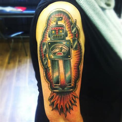 shoulder fantasy robot tattoo  matt cooley