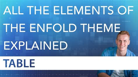 enfold theme license the table element tutorial enfold theme youtube
