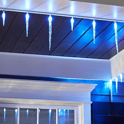 40 static icicle led lights blue and white shop lights accessories at the home depot