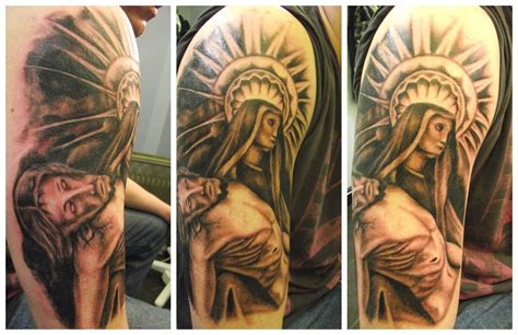 half sleeve tattoos for men religious amazing right half sleeve christian for