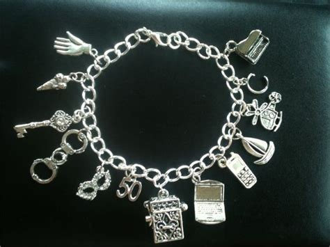 Fifty 50 Shades of Grey Charm Bracelet Naughty by KatKuffs   Dream Wardrobe   Pinterest   50