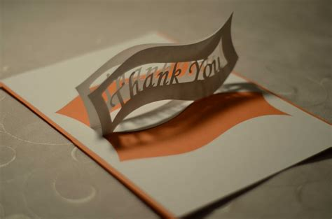Gift Card Thank You - ribbon thank you pop up card template
