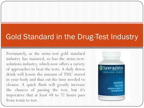 Chances Of Passing A Test With Detox by Urine Testing Is Mostly Referred As The Gold Standard