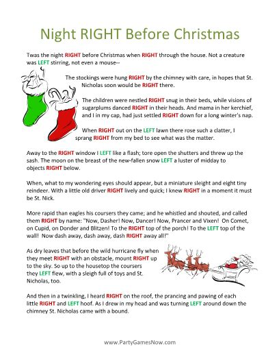 4 best images of printable right left christmas game