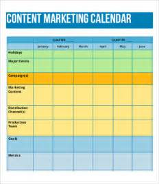marketing calendar template 8 content calendar templates free sle exle