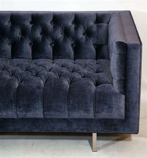 modern velvet sofa modern tufted velvet sofa at 1stdibs