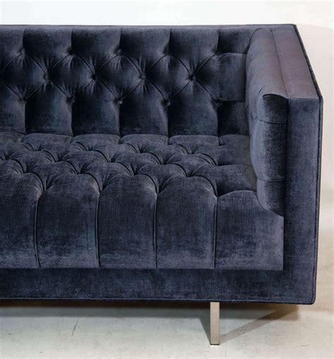 modern tufted sofa velvet modern tufted velvet sofa at 1stdibs