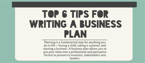 The Best Advice About Businesses Ive Written by Top 6 Tips For Writing A Business Plan Lawdepot