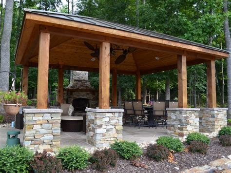 outdoor pavilions with fireplaces western cedar pavilion fireplace outdoor kitchen and