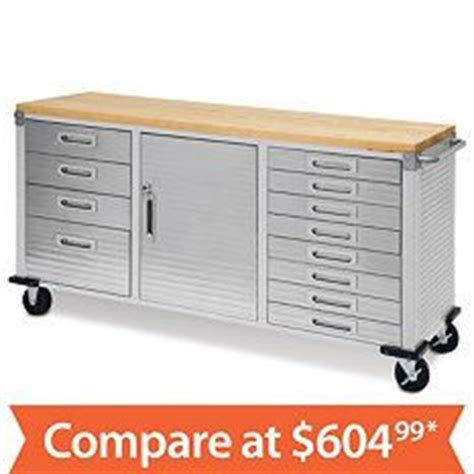 costco rolling tool bench stainless tool box with butcher block top by whalen 500 at costco use as dresser home