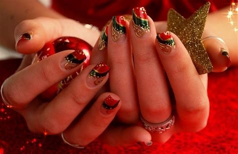 christmas decorated finger nails 40 easy nail designs and ideas for 2016