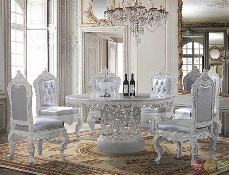 victorian style formal dining set  pedestal base