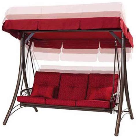 swing seats walmart callimont park 3 seat daybed swing red walmart com