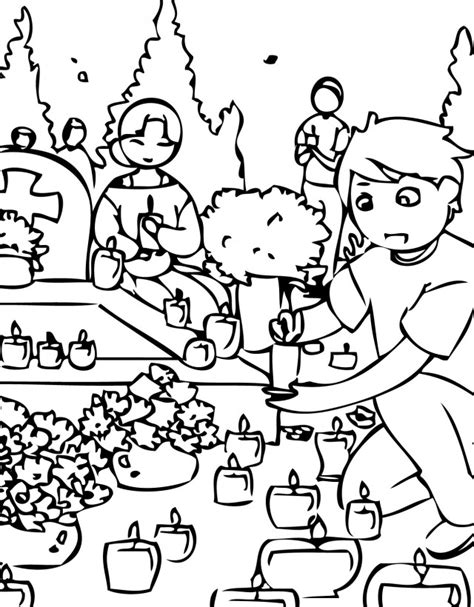 free coloring pages of all saints day
