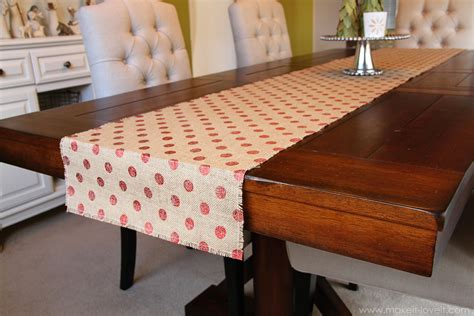 table runner simple decor burlap table runner bay leaf trees make it and it