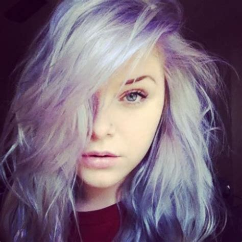 pictures of white hair with highlights white hair purple highlights l
