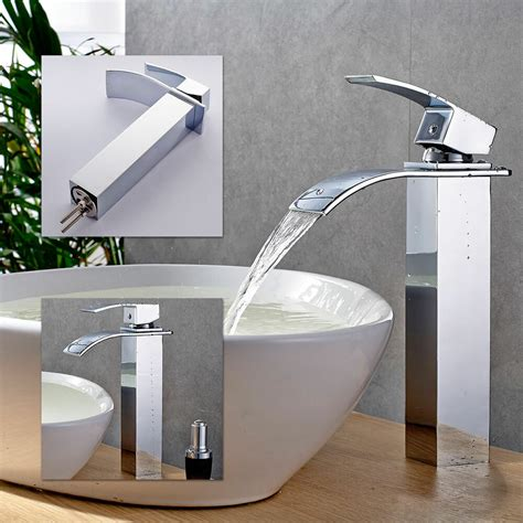 Bathroom Sink Mixer Taps by Waterfall Counter Top Basin Mixer Tap Taps Bathroom Sink