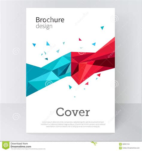 brochure poster cover template abstract background blue