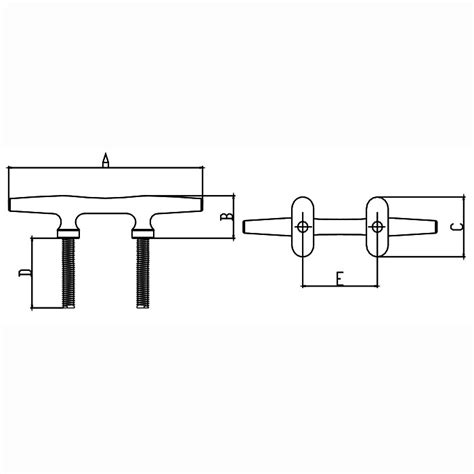 boat cleat drawing studded herreshoff cleat 8 boat marine hardware