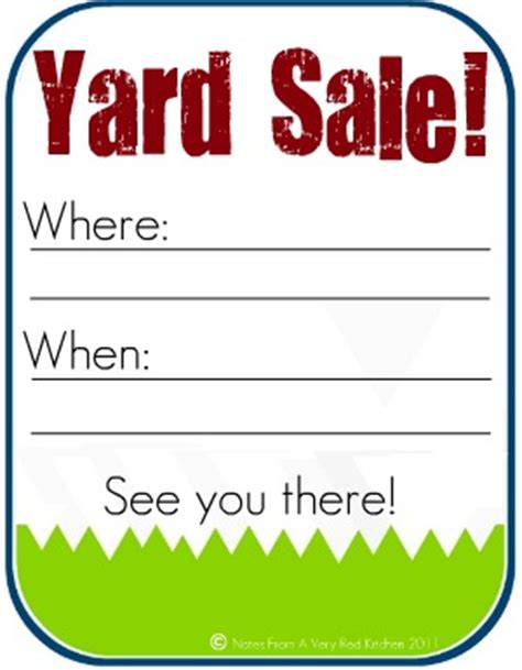 yard sale template the kitchen how to host a successful yard sale and free yard sale sign printable