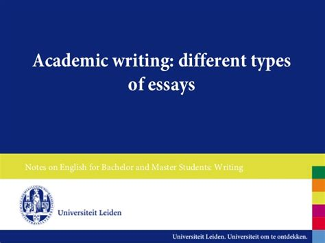 Different Types Of Essays Powerpoint by Different Types Of Essays