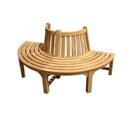 semi circular tree bench