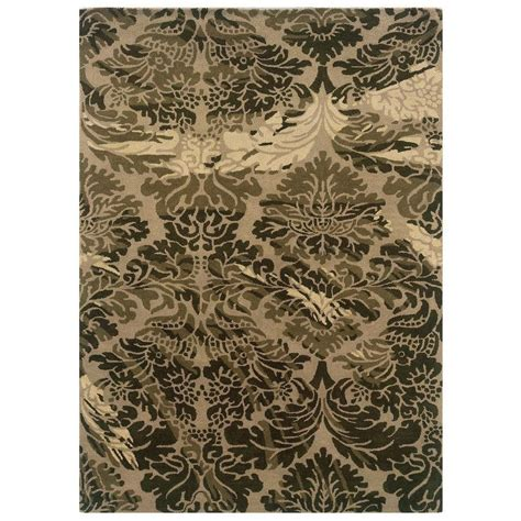 linon home decor rugs linon home decor florence collection taupe and olive 5 ft