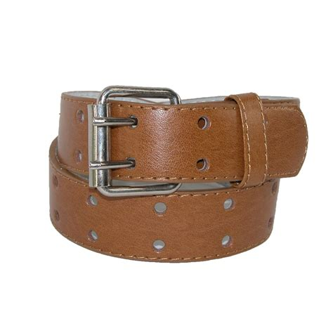 leather two perforated jean belt pack of 2 by