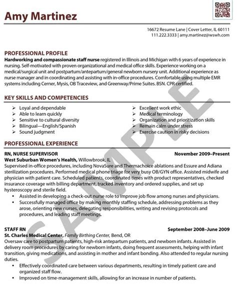 Resume Exles For Or Nurses Sle Resume Rn Registered Done By Caf 233 Edit Resume Rn Resumes