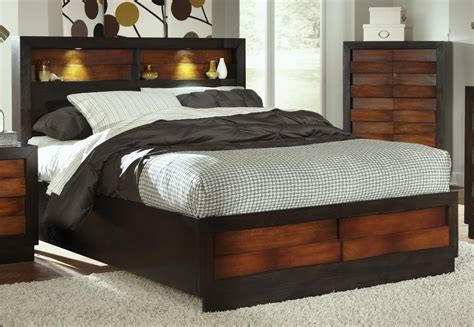 Bed With Storage And Headboard storage headboard amish storage headboard