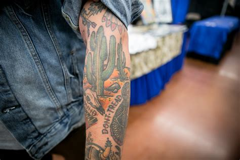 tattoo expo phoenix showing some skin at the grand convention