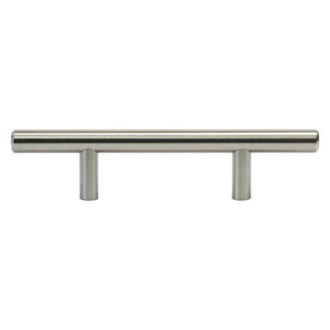 solid bar pull kitchen cabinet door handles brushed nickel rok solid 3 in 76 mm brushed nickel kitchen cabinet