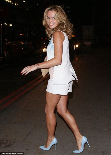 Amanda Overall Skirt amanda holden shows toned legs in white shorts