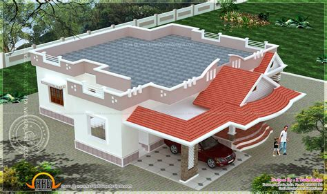 single storied  bedroom house elevation kerala home design  floor plans