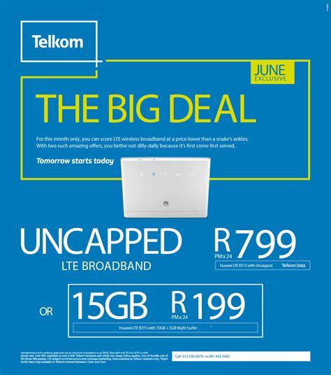 Wifi Unlimited Telkom uncapped smart broadband wireless b315 router r799pm
