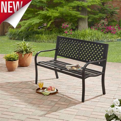 Wood Swing Bench Outdoor Bench Patio Metal Garden Furniture Park Chair Deck