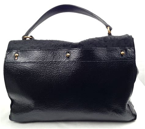 Ysl Rive Gauche Tote by Yves Laurent Rive Gauche Leather And Pony Hair Tote