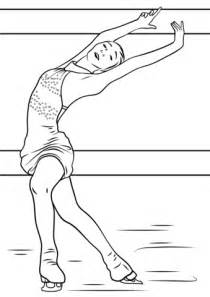 figure skating coloring page free printable coloring pages