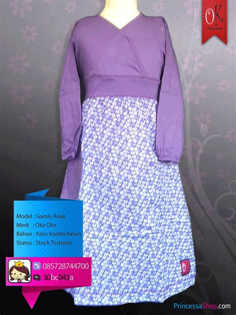 Baju Muslim Remaja Anak Perempuan Gamisokaoke Baju Gamis Muslim Oka Oke