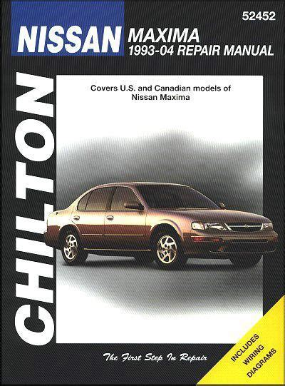 car manuals free online 2004 nissan maxima transmission control nissan maxima 1993 2004 chilton owners service repair manual 1563926040 9781563926044