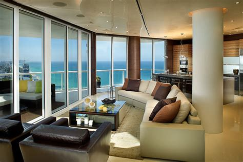 ocean penthouse miami beach contemporary living room akoya mayor residence stunning modern penthouse in miami