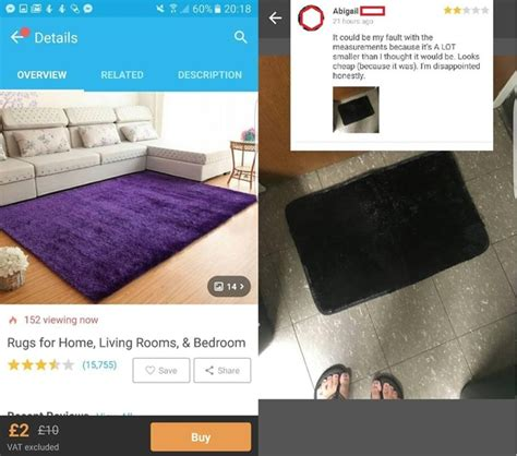 buying a rug buying a rug from the wish app meme
