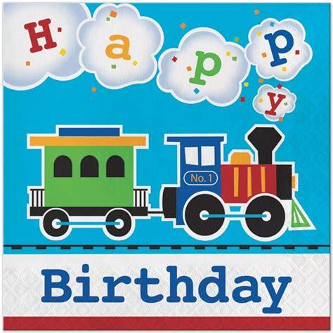 Thomas The Train Decorations Train Happy Birthday Lunch Napkins 16