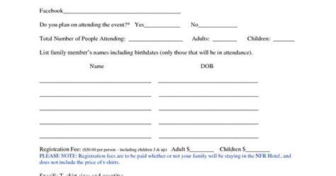 family reunion registration form template family reunion registration form template family