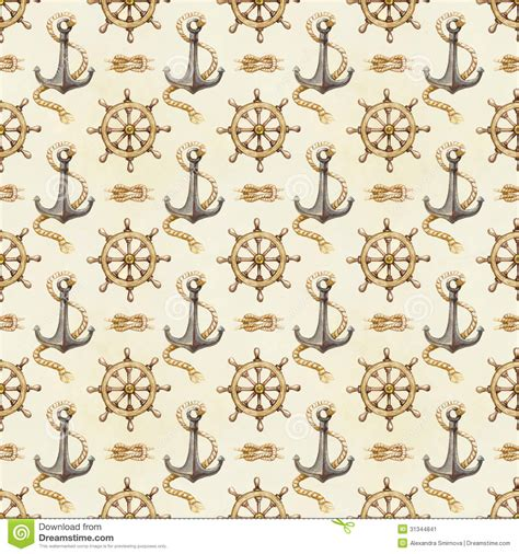 seamless nautical pattern seamless nautical pattern stock image image 31344841