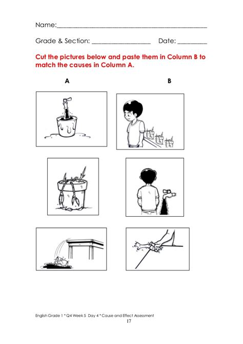 kindergarten cause and effect worksheets the lorax cause