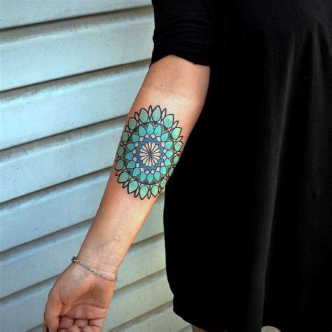 color mandala tattoo mandala forearm color www pixshark images