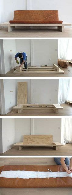 sofa easy to move build your own sofa or couch easy diy 2x4 frame modern