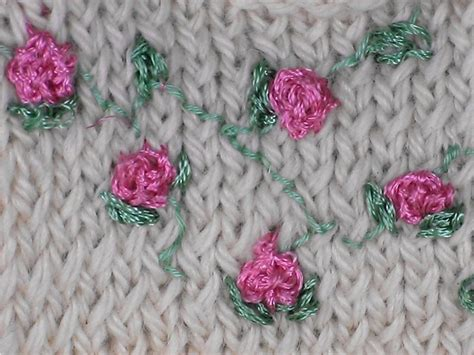 embroider flowers on knitting 29 best images about knit embroidery on